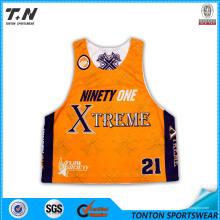 Dye Sublimated Team Lacrosse Camisas Reversíveis