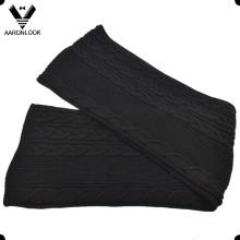 Alta qualidade 30% lã 70% acrílico cabo malha lenço