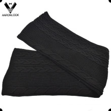 De alta calidad 30% lana 70% acrílico cable hecha punto bufanda