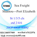 Shantou Port Sea Freight Shipping ke Port Elizabeth