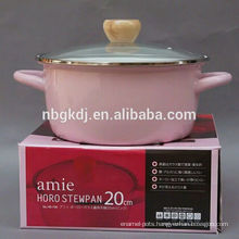 pink strait pot Enamelware cookware in2015 hot sales pink strait pot  Enamelware cookware in2015 hot sales