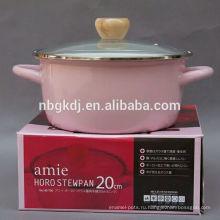 розовый горшок эмалированная посуда посуда пролив в 2015 горячие продаж розовый горшок эмалированная посуда посуда пролив в 2015 горячие продаж