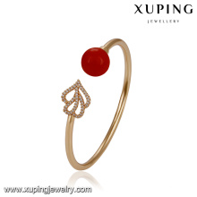 51763 Xuping wholesale two Heart-shaped elegant Pearl bangle for Wedding