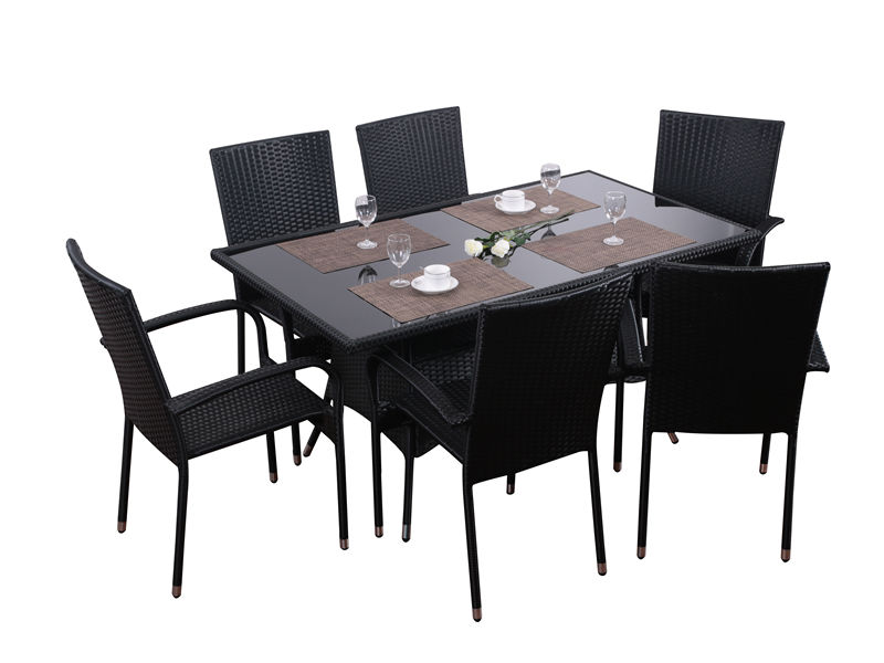 7pc rattan dining set S2810