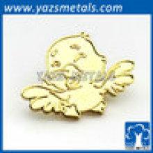 Pino de lapela de pássaro de estilo animal de ouro