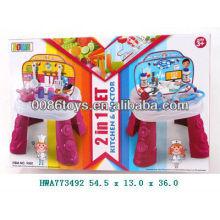 2013 новейшая игрушка 2 в 1 Кухня и набор для врача