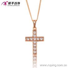 Moda Xuping Agradável Cruz de Cristal Pingente de Jóias de Ouro para Presentes ou Festa-32468