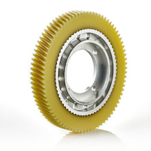 Custom Factory Plast Helical Gear Med Steel Hub