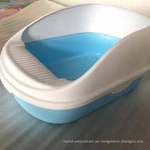Inodoro colorido de caja de arena para gatos