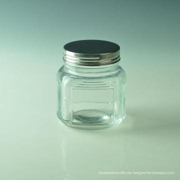 Quadratisches Glaskerzenglas für Hauptdekoration