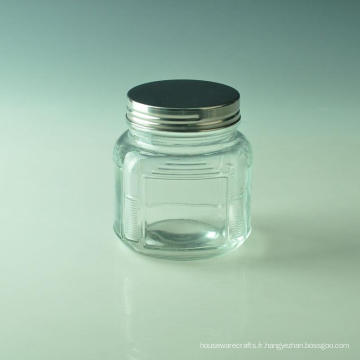 Pot en verre carré pour la décoration intérieure