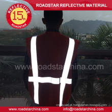 Colete de segurança refletivo EN471 alta visibilidade aviso