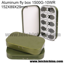 Оптовая Нахлыст Коробка Алюминиевого Летать Коробка 10 Отсеков
