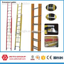 Escalera de alta calidad de la fibra de vidrio del escape del vendedor de la alta calidad, escalera de la extensión de la cuerda, escalera de la escalera de incendios