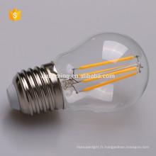Chine fournisseurs nouveaux produits E27 filament led éclairage g45 ampoule ce rohs énumérés