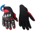 Motorcycle Glove of Syn Leather Fabric PVC Genuine Leather