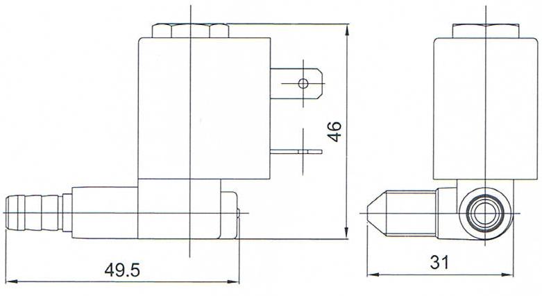 1/8'' 2/2 Way CEME Type 5524 Magnetic Valve