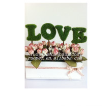 2015 LOVE letters artificial grass bonsai for table office decor