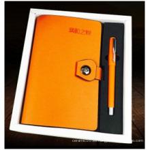 Cuero de imitación de encargo del cuaderno, cuaderno del negocio de la PU para los regalos