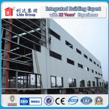 Construção de aço pré-fabricada de estrutura de aço leve de grande extensão