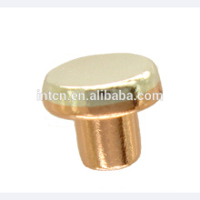 Silver copper electrical contacts