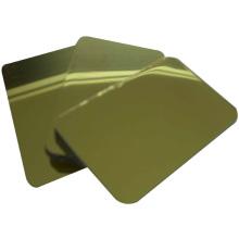 Feuerfest / antibakteriell / antistatisch Silber und Gold Spiegel Acm Board / Acp Panel für die Inneneinrichtung