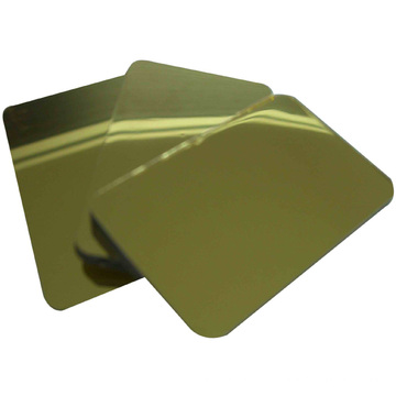 Fireproof/Antibacterial/ Anti-Static Silver and Gold Mirror acm board/acp panel for interior decoration