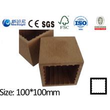 100X100 WPC Post con SGS CE Fsc ISO WPC Valla de madera de plástico compuesto Post valla Lhma052