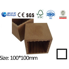 100X100 WPC Post with SGS CE Fsc ISO WPC Fence Wood Plastic Composite Post Fence Lhma052