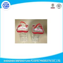 2015 Sac de conditionnement de nourriture pour chien en PVC transparente de la Chine avec fermoir