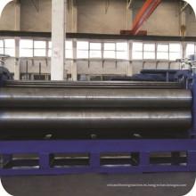 Barril del material para techos acanalado hojas fría máquina formadora de