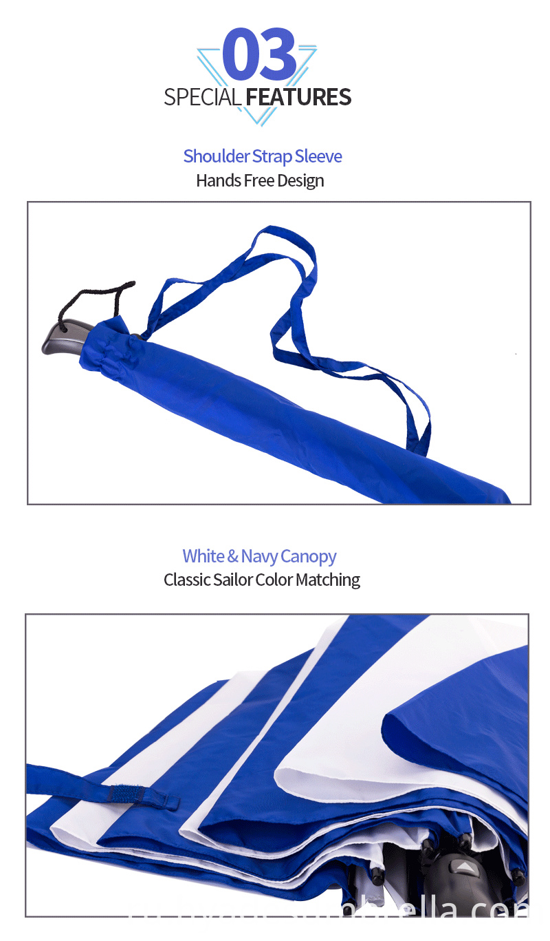 2 Folding Umbrella With Shoulder Strap Sleeve