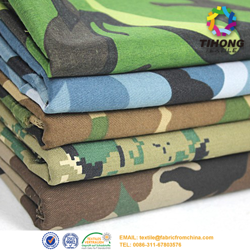 cotton military camouflage fabric