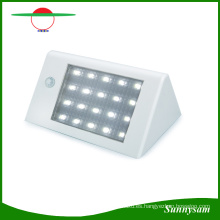20 LED 350lm Energía Solar PIR Sensor de Movimiento Lámpara de Pared Jardín Luz Super Brillante IP65 Impermeable Lámpara de Seguridad