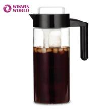 Новые Прибытия Боросиликатного Стекла Холодного Заваривания Чайник Со Съемным Фильтром Для Кофе