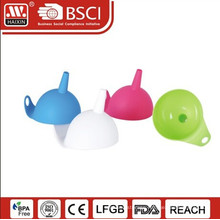 Haixing Customized silicone kitchen filled funnel