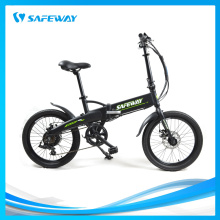 Wide girder battery-hidden folding electric bike
