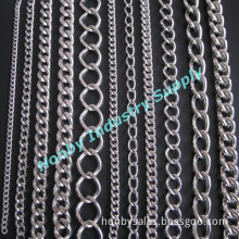 Decorative Steel Metal Made Twist Link Chain (for jewelry design, for bags, shoes, or for garment)