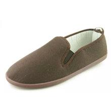 Hot Sale Classic Men Canvas Shoes Slip-on Casual Shoes (NU001)