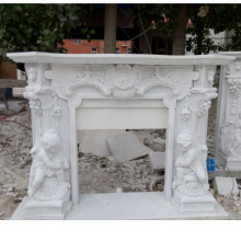 Statue Marble Fireplace Mantel (SY-MF046)