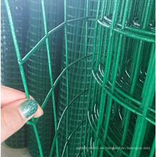 Malla de alambre soldada con revestimiento de PVC verde