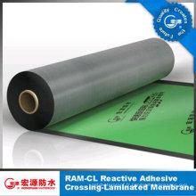 Membrane imperméable auto-adhésive de film de HDPE de forte épaisseur de 1.5 millimètres pour le feutre de toit / sous-sol / garage / Underground / Underlay (OIN)