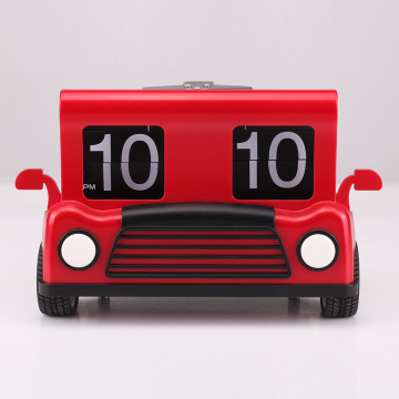 Red Truck Flip Clock para la decoración