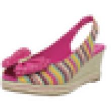 Обувь сандалии клина ботинка клина stripe девушок способа самой последней пятки способа конструкции сексуальная сексуальная