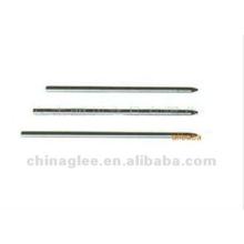 caneta esferográfica metal recargas 67mm L x 2,3 mm diâmetro.
