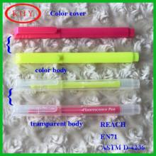 Vivid Color Barrel Bright Color Ink Highlighter with Chisel tip or Bullet Tip