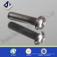 Tornillo de casquillo zincado material de acero inoxidable