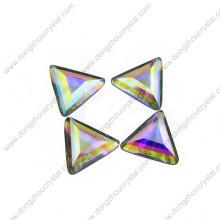 Pierre de bijoux en verre de dos plat de triangle d'Ab pour la vente en gros