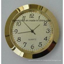 Reloj de inserción de cuarzo analógico promocional pequeño Reloj de oro mini relojes