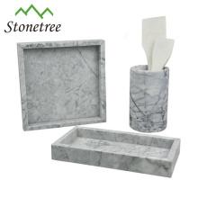 Bandeja de mesa de pedra de mármore de bandeja de armazenamento de pedra natural de 100%